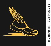 icons sports shoes with wings. | Shutterstock .eps vector #1264931851
