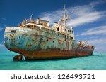 An Old Cargo Ship Has Run...