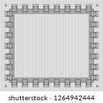 grey sample certificate. beauty ... | Shutterstock .eps vector #1264942444