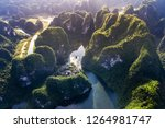 aerial view of trang an  ... | Shutterstock . vector #1264981747
