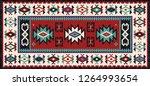colorful oriental mosaic kilim... | Shutterstock .eps vector #1264993654