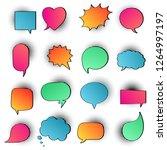 16 speech bubbles flat gradient ...   Shutterstock .eps vector #1264997197