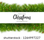 merry christmas background | Shutterstock .eps vector #1264997227