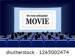 people in the cinema hall... | Shutterstock .eps vector #1265002474