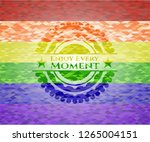 enjoy every moment on mosaic... | Shutterstock .eps vector #1265004151