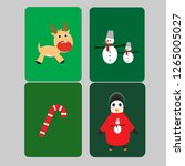 set happy holiday of pictures... | Shutterstock .eps vector #1265005027