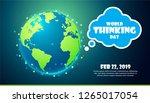 world thinking day feb 22  2019.... | Shutterstock .eps vector #1265017054