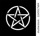pentagram isolated vector... | Shutterstock .eps vector #1265017684