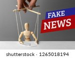 fake news. the correspondent as ... | Shutterstock . vector #1265018194