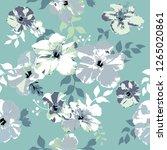 seamless floral pattern.... | Shutterstock .eps vector #1265020861