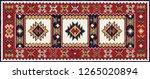 colorful oriental mosaic kilim... | Shutterstock .eps vector #1265020894