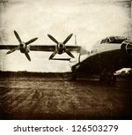 Old Aircraft  Vintage Background