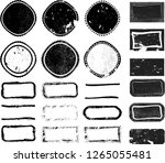 grunge post stamps collection ... | Shutterstock .eps vector #1265055481