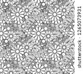 hand drawn seamless pattern... | Shutterstock .eps vector #1265073931