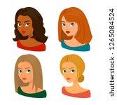 seasonal color analysis. face... | Shutterstock .eps vector #1265084524