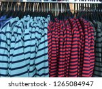 sweater with stripy clothing on ...   Shutterstock . vector #1265084947
