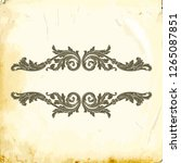 baroque decorations element... | Shutterstock .eps vector #1265087851