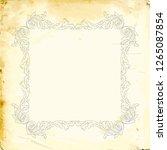 baroque decorations element...   Shutterstock .eps vector #1265087854