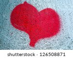 Heart Symbol Spray Painted On ...