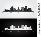boise usa skyline and landmarks ...   Shutterstock .eps vector #1265090767