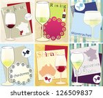 vector set with six  decorative ... | Shutterstock .eps vector #126509837