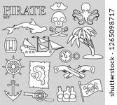 pirate contour set. for... | Shutterstock .eps vector #1265098717