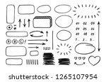 set of hand drawn elements.... | Shutterstock .eps vector #1265107954