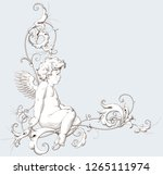 vintage decorative element... | Shutterstock .eps vector #1265111974