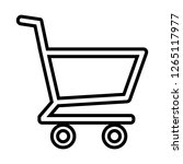 shopping cart icon vector  | Shutterstock .eps vector #1265117977