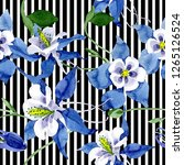 blue aquilegia floral botanical ...   Shutterstock . vector #1265126524