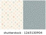simple abstract floral and dots ... | Shutterstock .eps vector #1265130904