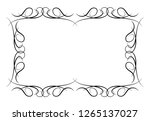 decorative vintage horizontal... | Shutterstock . vector #1265137027