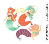 set of three illustrations of... | Shutterstock .eps vector #1265138311