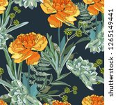 seamless pattern with orange... | Shutterstock .eps vector #1265149441