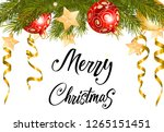 merry christmas background with ... | Shutterstock .eps vector #1265151451