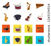 vector design of music and tune ... | Shutterstock .eps vector #1265154514