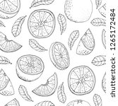 seamless pattern with orange... | Shutterstock .eps vector #1265172484