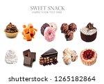 set of sweet snack   Shutterstock . vector #1265182864