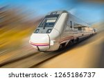 fast train passing by   Shutterstock . vector #1265186737