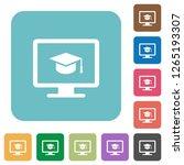 webinar on monitor white flat...   Shutterstock .eps vector #1265193307