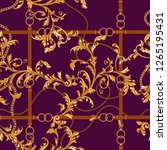 seamless pattern with golden... | Shutterstock .eps vector #1265195431