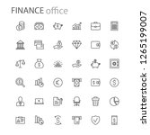finance icons collection... | Shutterstock .eps vector #1265199007