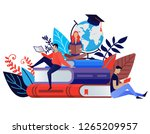 education concept in flat style.... | Shutterstock .eps vector #1265209957