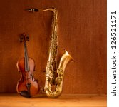 classic music sax tenor... | Shutterstock . vector #126521171