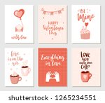 set of simple hand drawn... | Shutterstock .eps vector #1265234551