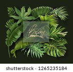vector banner with green... | Shutterstock .eps vector #1265235184