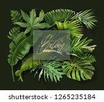 vector banner with green... | Shutterstock .eps vector #1265235184