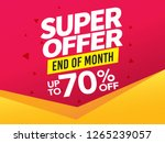 sale and special offer tag ... | Shutterstock .eps vector #1265239057