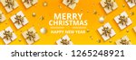 merry christmas and happy new... | Shutterstock .eps vector #1265248921