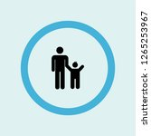 father with son icon symbol.... | Shutterstock .eps vector #1265253967
